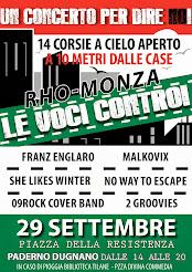 """Rho Monza Le Voci Contro"" - Un Concerto per dire NO!"