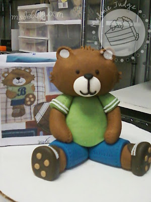 boy baby shower teddy bear cake topper