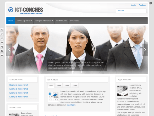 ICT-conches Joomla Business Templates