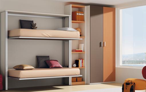 Dise os de dormitorios para adolescentes con mucho color - Dormitorios con literas para ninos ...