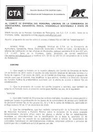 """Remitimos al Comité de Empresa propuesta de escrito sobre el acceso a laboral fijo en OEP de """"estab"""