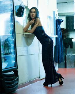 Megan Fox, black dress,MODEL