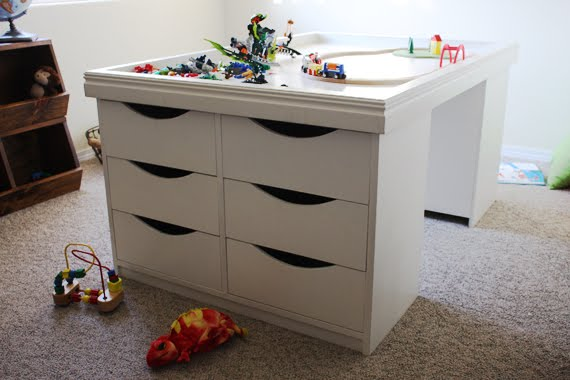 Lost Button Studio: 12-drawer Kids Activity & Storage Table Plans
