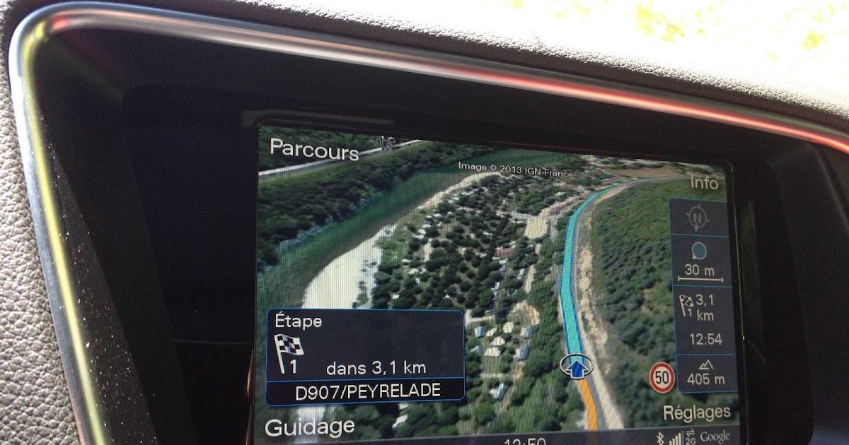 voiture communicante test la navigation en mode google earth chez audi. Black Bedroom Furniture Sets. Home Design Ideas