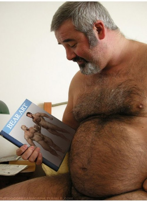 hairy fat old bear naked