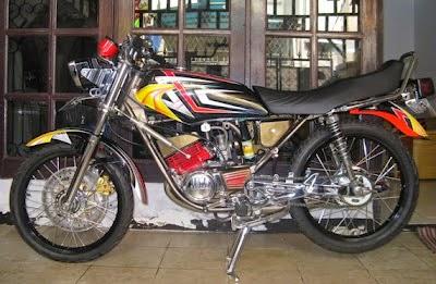 modifikasi motor rx king paling keren  paling bagus
