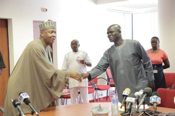 Saraki meets Nigerian Union of Journalists.