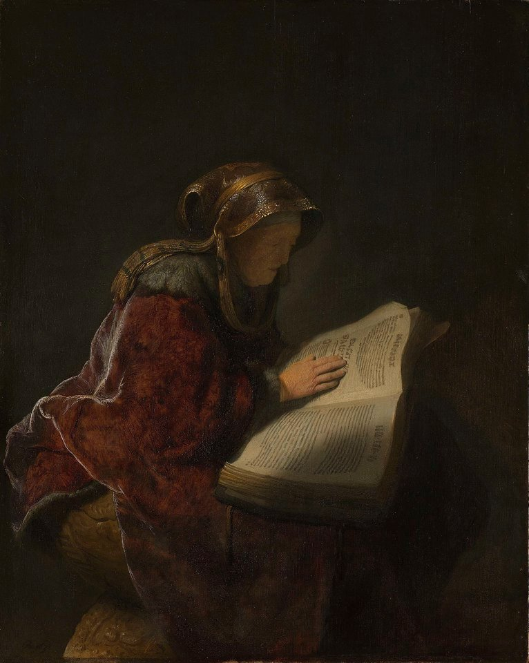 Rembrandt. An Old Woman Reading, 1631