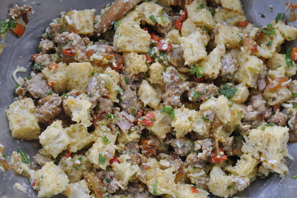... , place the zucchini inside and bake at 350 for about 1/2 hour