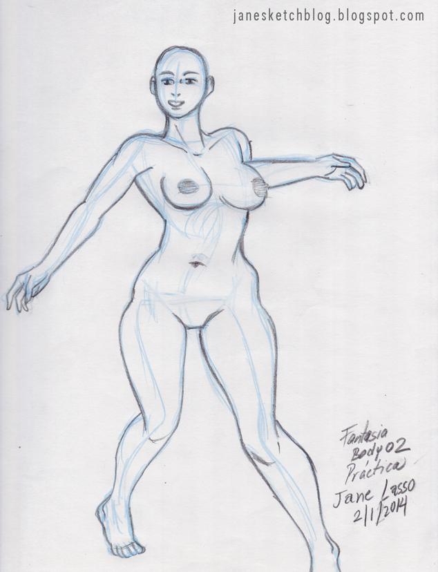 Dibujo de cuerpo de fantasía