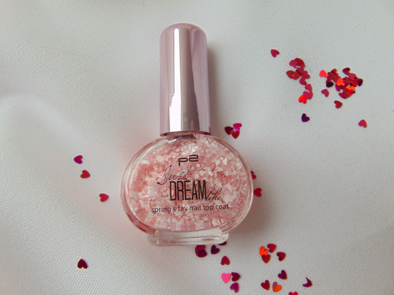 p2 Limited Edition: Just dream like - spring's fav nail top coat - Peach delight dots - www.annitschkasblog.de