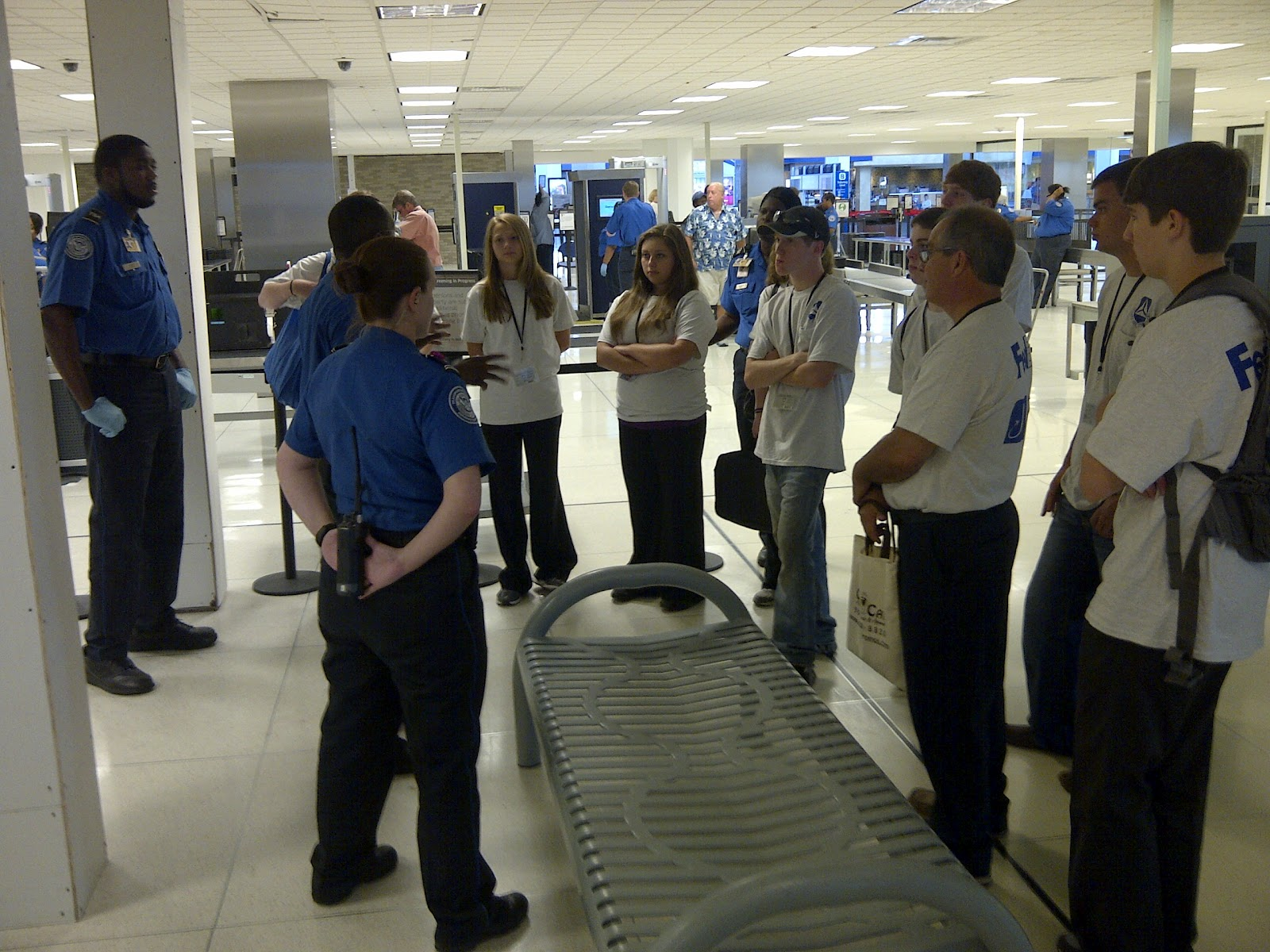 tsa instructs cap cadets on screening procedures and various tsa career paths