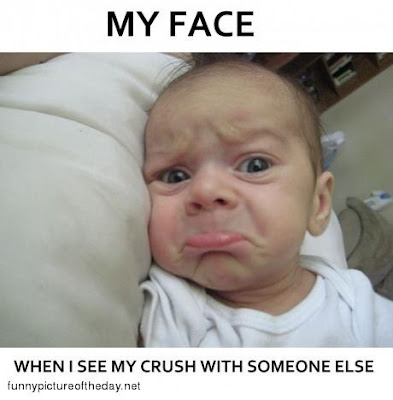 My Face Crush Funny Baby Face