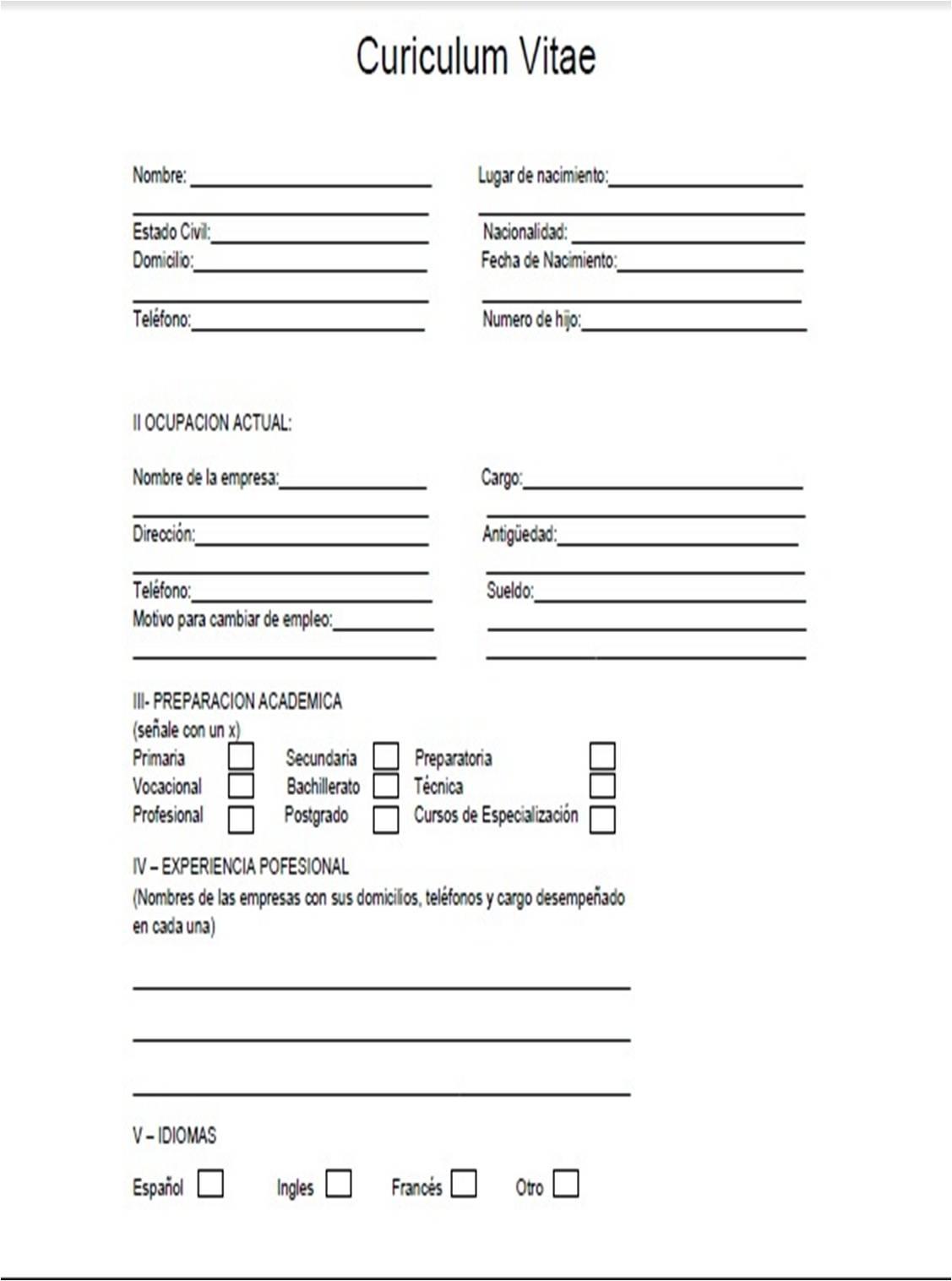 Guia documentacion Administrativa 2a: curriculum vitae
