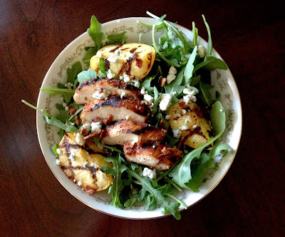 ... Tea Spoons and Pickle Forks: Blackened Chicken and Grilled Peach Salad