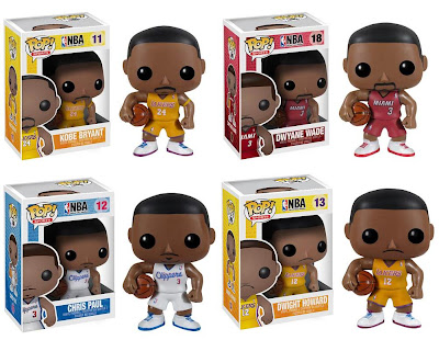 NBA Pop! Sports Series 2 Vinyl Figures by Funko - Kobe Bryant, Dwayne Wade, Chris Paul & Dwight Howard