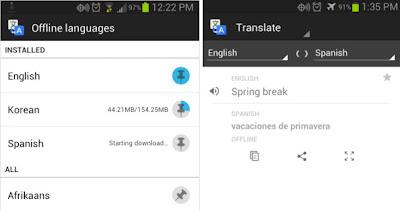 artık google translate çevrimdışı çalışabiliyor