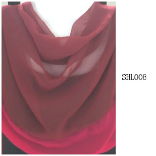 shawl halfmoon 2 layer brown