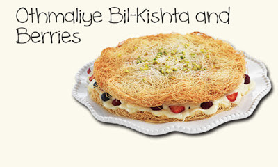 Pour the melted ghee over the Othmaliye dough and ensure the dough is evenly coated Othmaliye Bil-Kishta and Berries Recipe