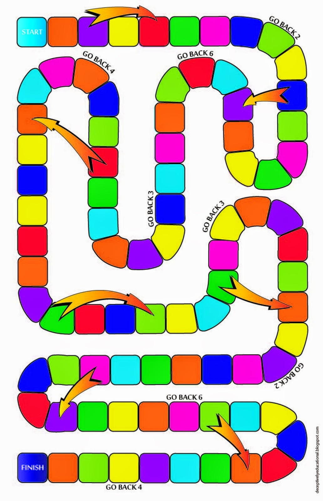 Game board colors - Equivalent Fractions Missing Numerator Board Game