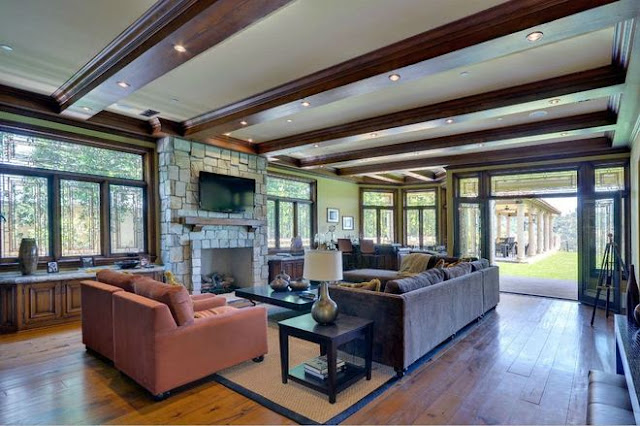 Picture of large living room in the new house bought by Kim and Kanye