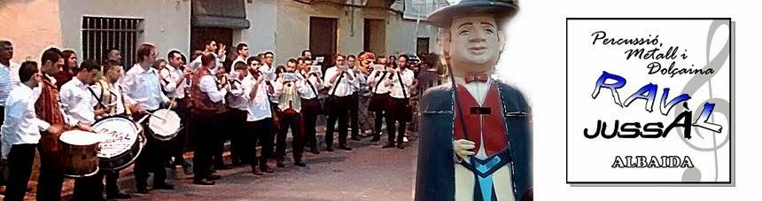 """Grup de Percussió, Metall i Dolçaina """"Raval Jussà"""" Albaida. Colla Dolçaines Raval Jussà Albaida."""
