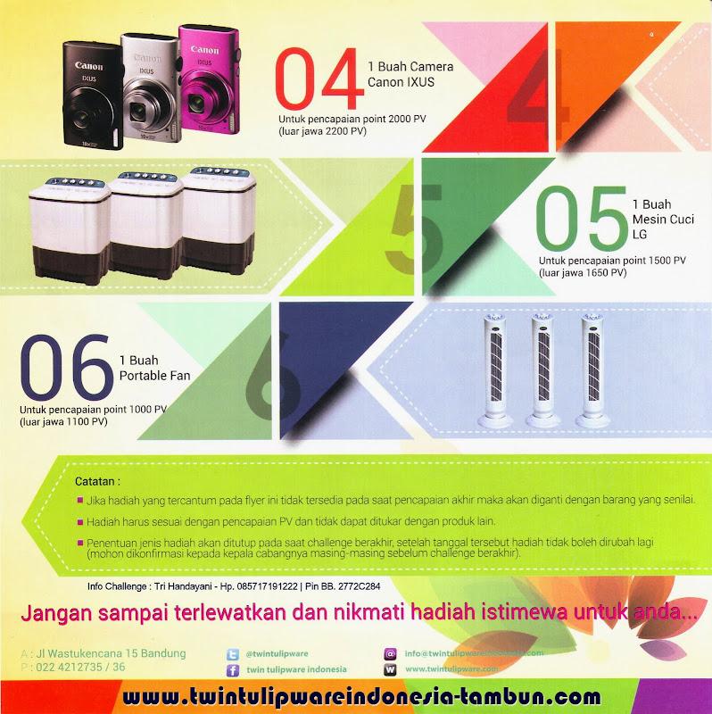 Challenge Tulipware, Camera Canon Ixus, Mesin Cuci LG, Portable Fan Stand