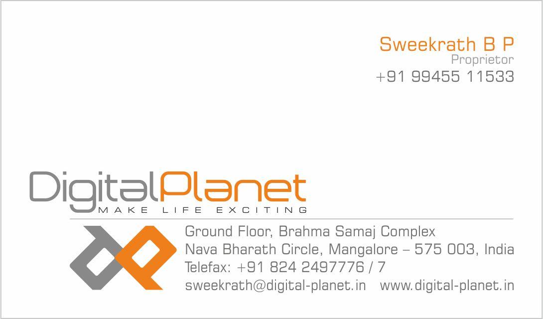 Business Card & Letterhead Design for Digital Planet, Mangalore ...