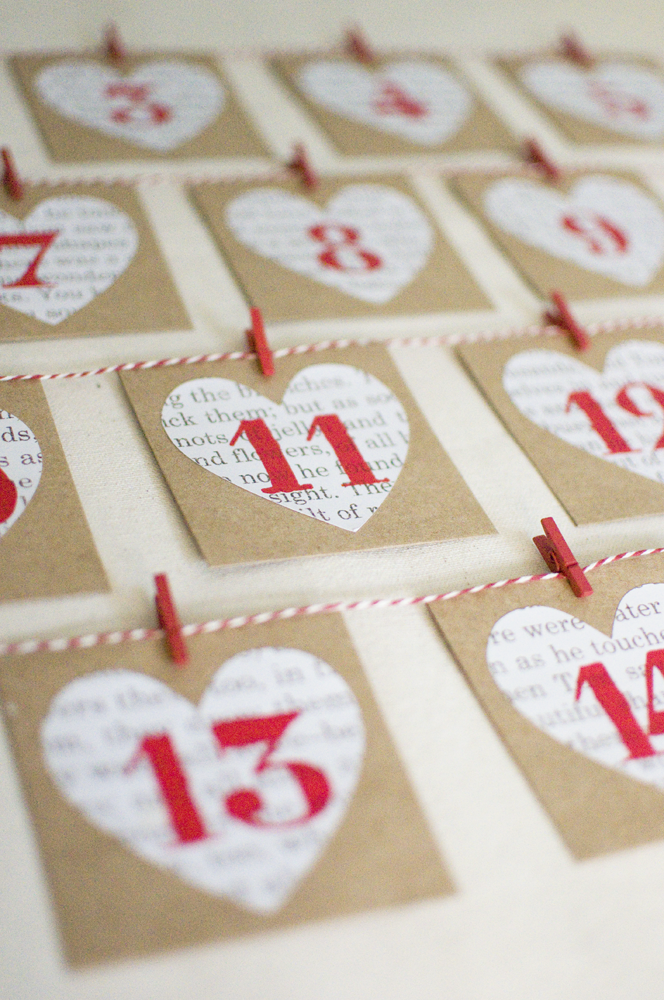Love Calendar Diy : Yellow house handmade valentine s advent calendar diy