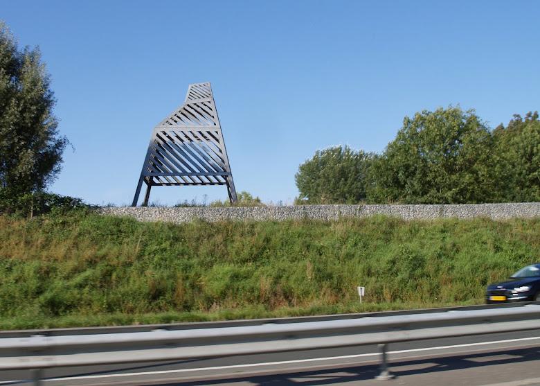 Beeld langs ringweg Groningen