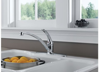 Delta B1310LF Foundations Single Handle Kitchen Faucet