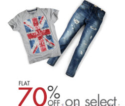 Buy Online Men's Clothing at 60% off from Rs. 227 only