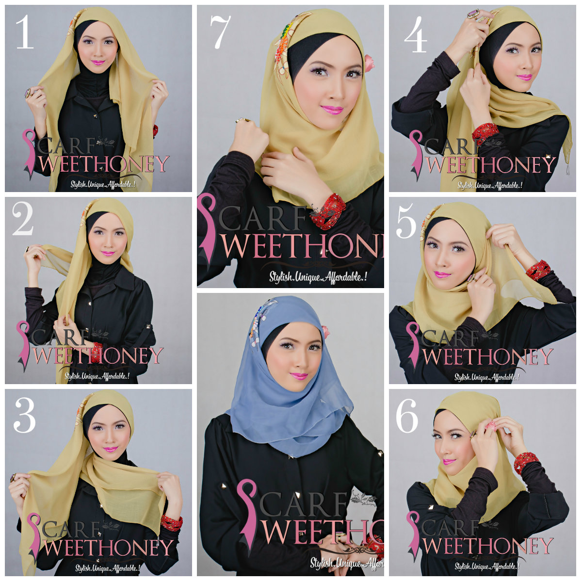 Cara Memakai Bawal Scarf AYYA Tutorial Memakai Jilbab Hijab Modis