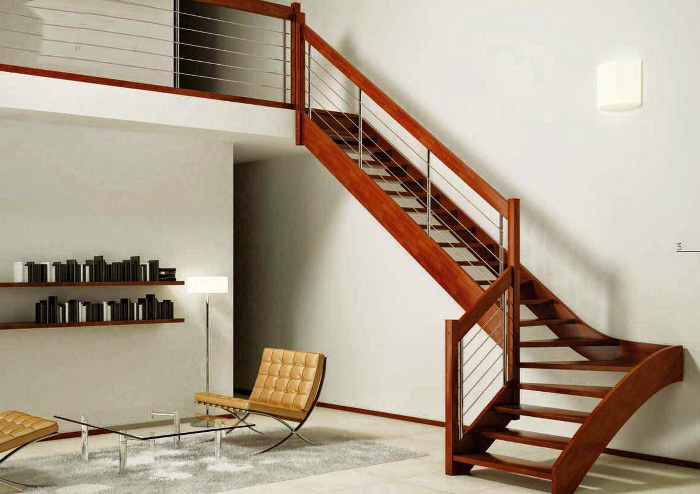 Desain Tangga Kayu Rumah Minimalis