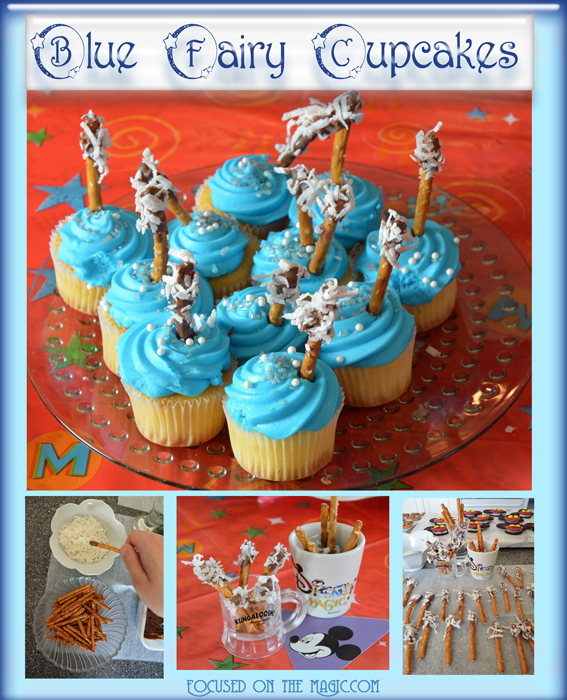 Focused on the Magic | Blue Fairy Wand Mini Cupcakes