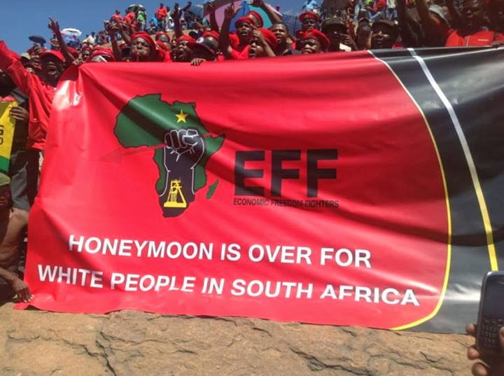 Image result for julius malema-HATE SPEECH BANNER
