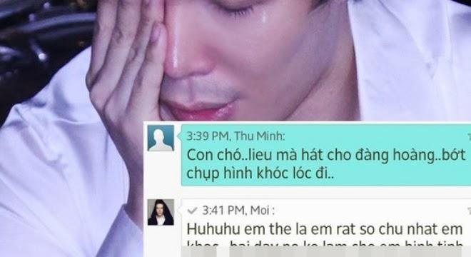 Thu Minh nhắn tin gọi Nathan Lee là...con chó