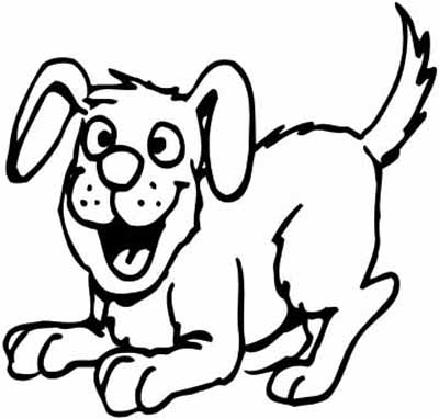 animal happy dog coloring pages prairie