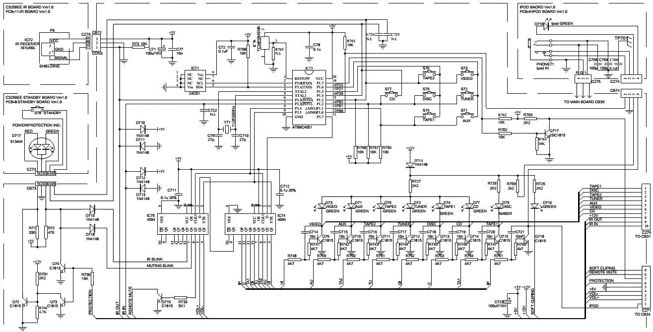 nad c325bee stereo amplifier circuit diagram