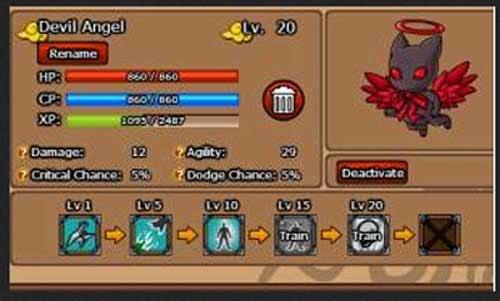 Ninja Saga Pet Devil Angel