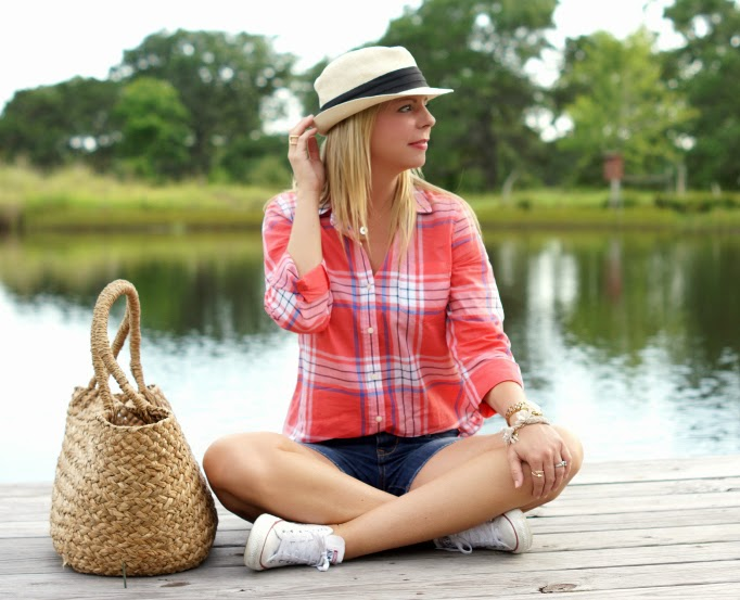 Summer outfit ideas with senim shorts