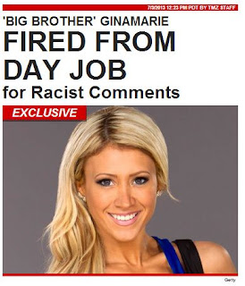 TMZ Posted The Following About GinaMarie being Fired from her Job:
