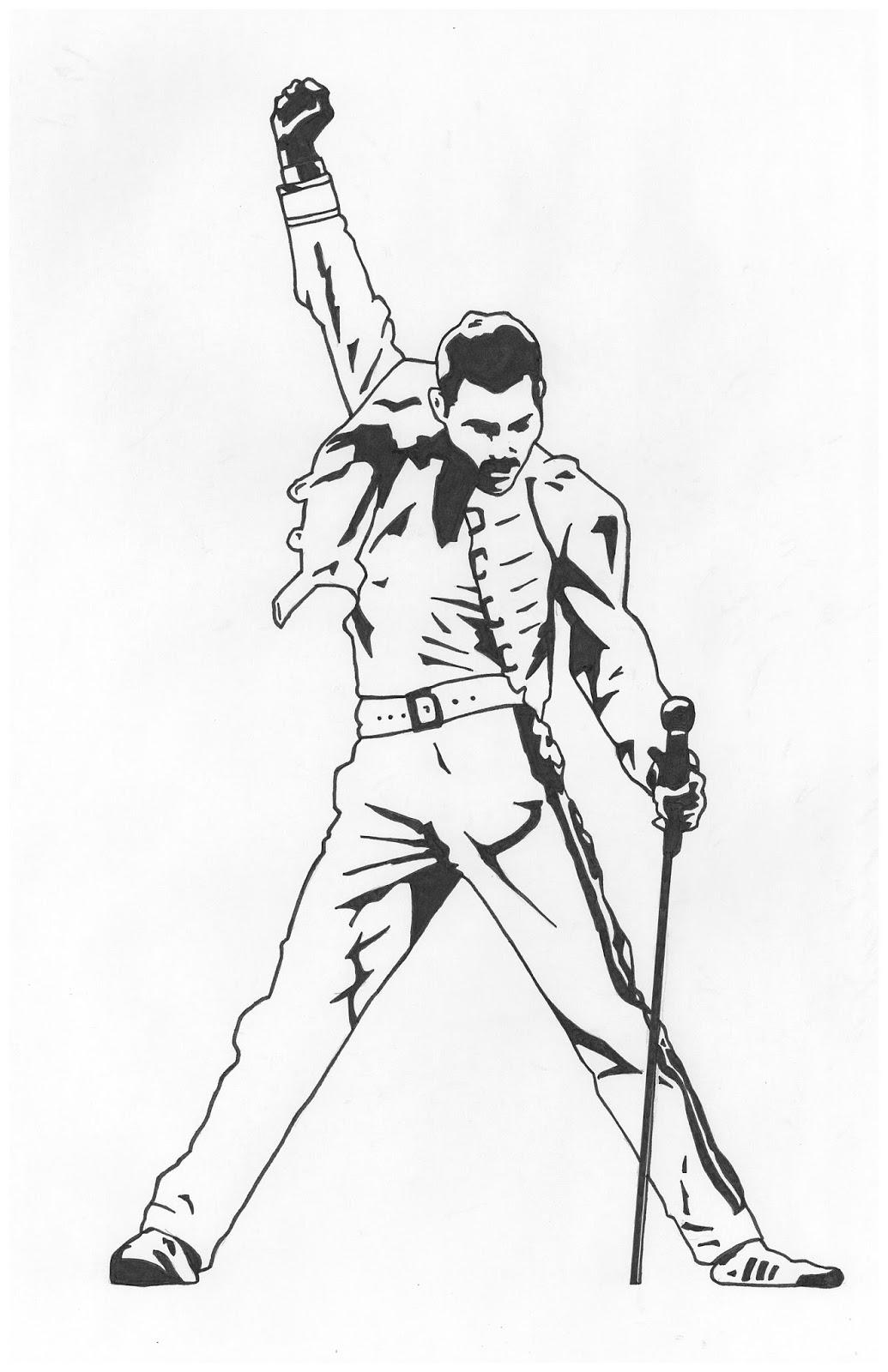 Freddie mercury pose silhouette