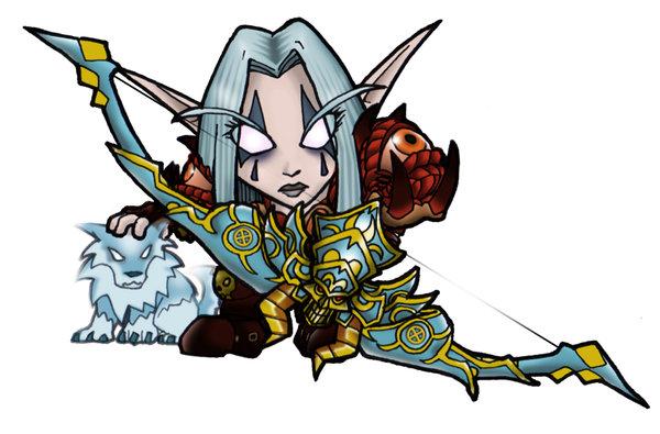 Mini Night Elf Hunter por dedded