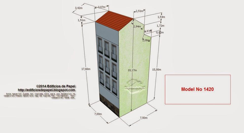 """Edificios de Papel - Modelo 1420 - Edificio Plaza Ferreiria C. Series """"Ourense"""" - """"Ourense"""" series"""