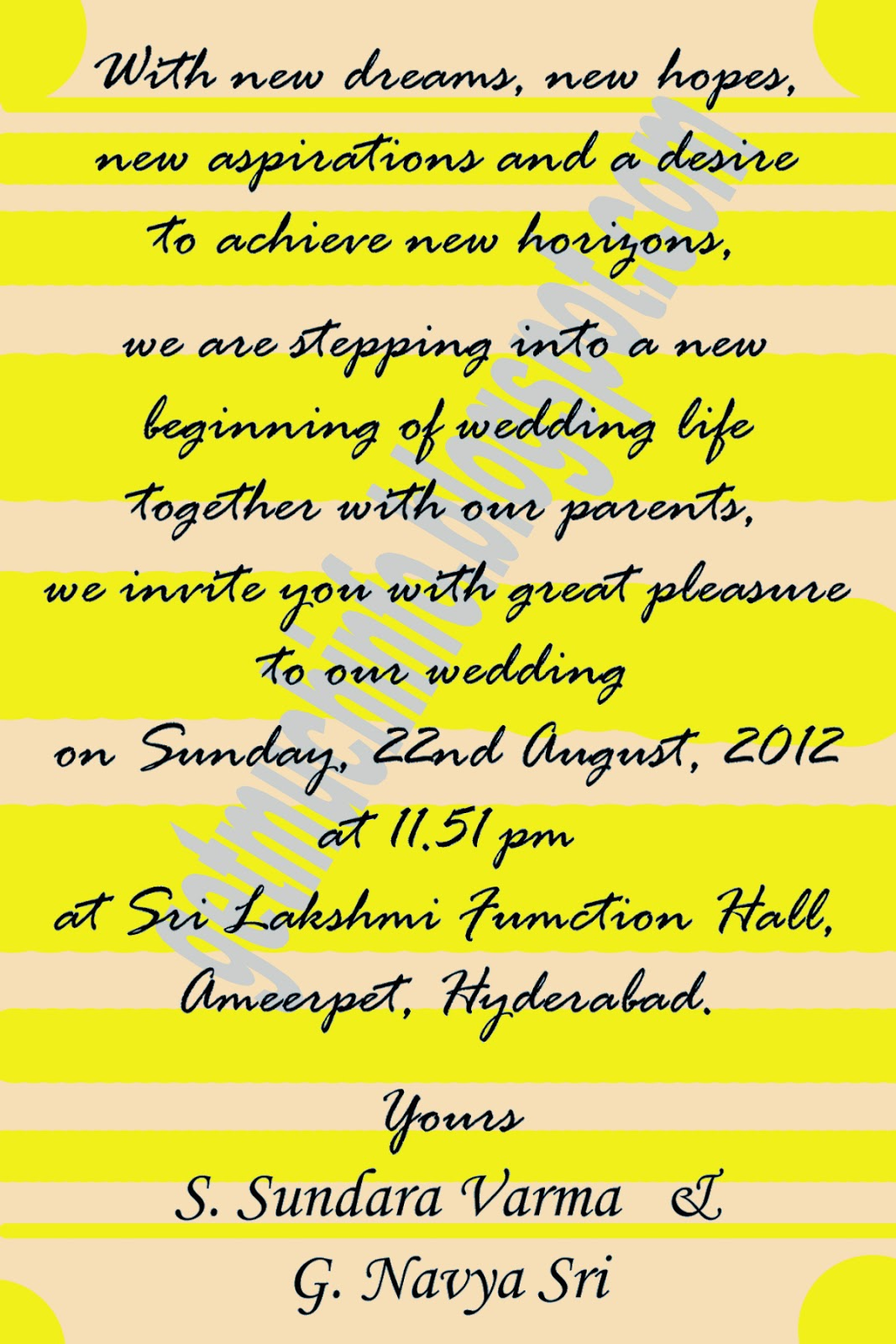 Get Much Information Indian Hindu Marriage Invitation Card Matter In English