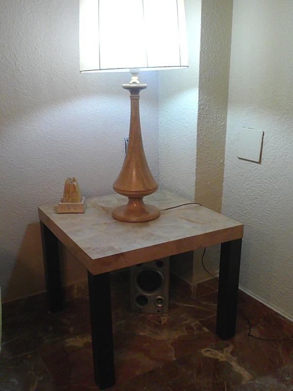 Diy c mo forrar una mesa lack de ikea con filtros de caf - Ikea mesa lack blanca ...