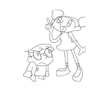 #7 Dexter Laboratory Coloring Page