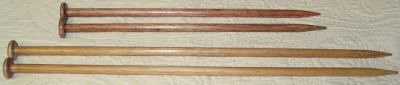Hand Crafted Wooden Knitting Needles