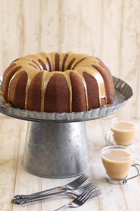 Gingerbread Bundt Cake with Coffee Glaze | Sprinkle Bakes